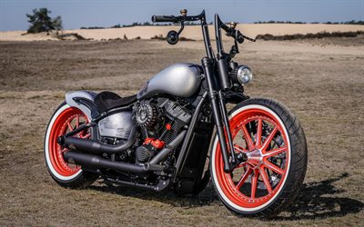 Harley-Davidson, Customized Motorcycles, Thunderbike, bobber, motorcycle tuning, american motorcycles