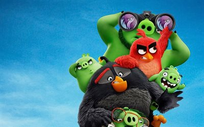 4k, The Angry Birds Movie 2, characters cast, 2019 movie, 3D-animation, Angry Birds 2