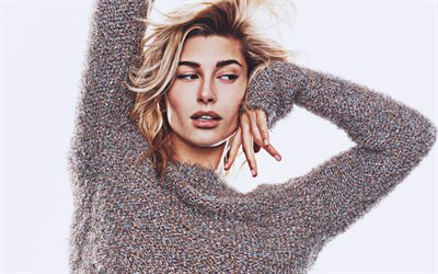 Hailey Baldwin, 4k, Hollywood, movie stars, american celebrity, blonde woman, Hailey Rhode Bieber, beauty, Hailey Baldwin photoshoot