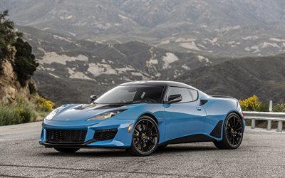 2020, Lotus Evora GT, blue sports car, new blue Evora GT, British sports cars, Lotus