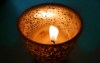 burning candle, macro, fire flame, bokeh, candle