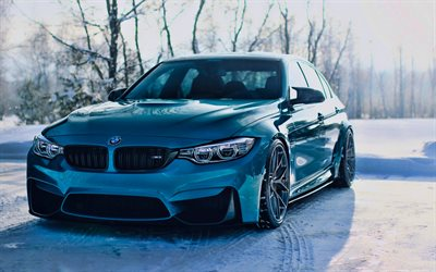 bmw m3, hdr, f80, 2019 autos, winter, tunned m3, tuning, supersportwagen, blau, m3, deutsch, autos, blau f80, bmw