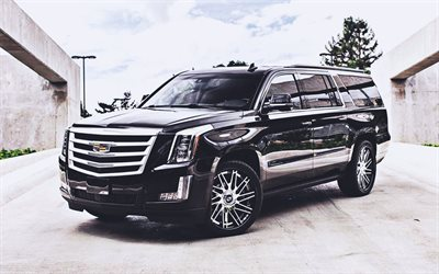 Cadillac Escalade ESV, tuning, SUVs, 2019 cars, Forgiato Wheels, 2019 Cadillac Escalade, american cars, Cadillac