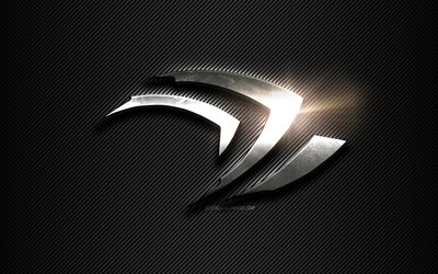 Nvidia Claw Metal logo, black lines background, black carbon background, Nvidia Claw logo, emblem, metal art, Nvidia