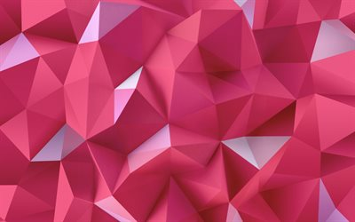 purple geometric shapes, low poly patterns, geometric patterns, wavy backgrounds, 3D figures, pueple 3D background, 3D geometric textures, low poly textures, waves textures