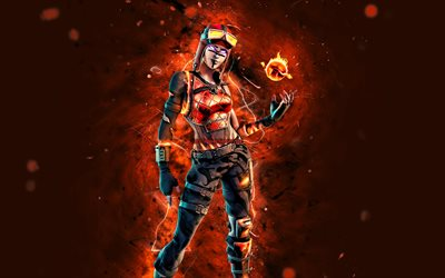 Download Wallpapers Blaze 4k Orange Neon Lights 2020 Games Fortnite Battle Royale Fortnite Characters Blaze Skin Fortnite Blaze Fortnite For Desktop Free Pictures For Desktop Free