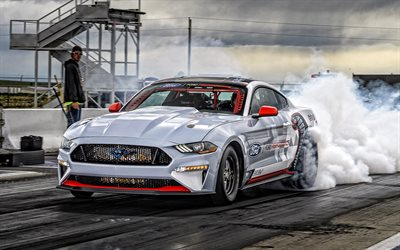 Ford Mustang Cobra Jet 1400 Concept, 2020, 4k, front view, exterior, drag racing, race car, tuning mustang, american cars, Ford