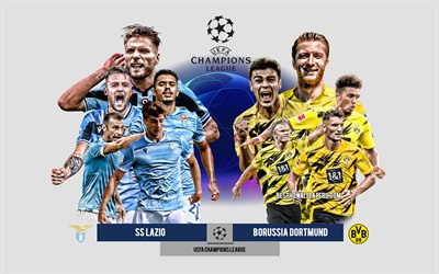 SS Lazio vs Borussia Dortmund, Group F, UEFA Champions League, Preview, promotional materials, football players, Champions League, football match, SS Lazio, Borussia Dortmund