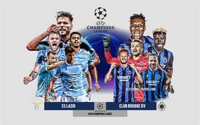 SS Lazio vs Club Brugge KV, Group F, UEFA Champions League, Preview, promotional materials, football players, Champions League, football match, SS Lazio, Club Brugge KV