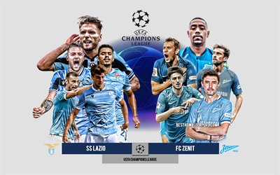 SS Lazio vs FC Zenit, Group F, UEFA Champions League, Preview, promotional materials, football players, Champions League, football match, SS Lazio, FC Zenit