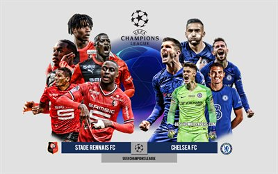 Stade Rennais FC vs Chelsea FC, Group E, UEFA Champions League, Preview, promotional materials, football players, Champions League, football match, Stade Rennais FC, Chelsea FC
