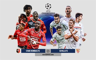 Stade Rennais FC vs Sevilla FC, Group E, UEFA Champions League, Preview, promotional materials, football players, Champions League, football match, Stade Rennais FC, Sevilla FC
