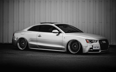 Audi S5 Coupe, 4k, stance, tuning, supercars, german cars, Audi