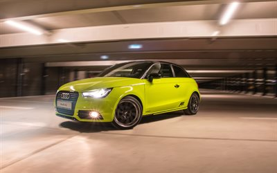ABT, tuning, Audi A1, 2017 cars, compact cars, yellow A1, Audi