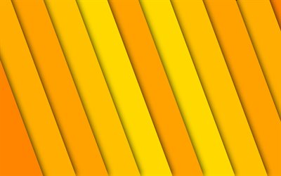 yellow lines, 4k, material design, yellow stripes, creative, abstract background