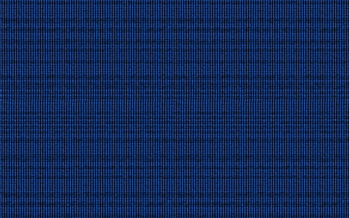 Blue knitted texture, blue, fabric texture, knitted background, knitted texture