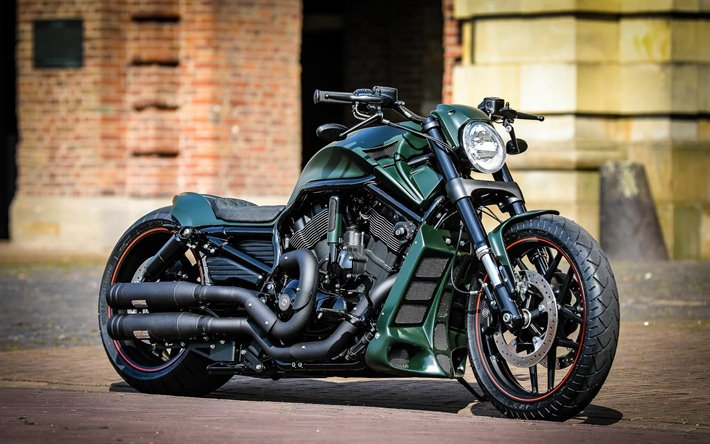 Download Wallpapers Thunderbike Green Poison Harley