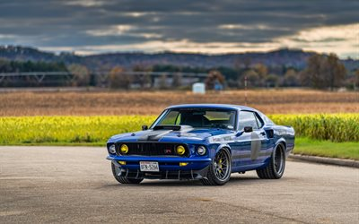 Ford Mustang Mach 1 R Unkl, 4k, 1969 cars, Ringbrothers, tuning, muscle cars, customized Ford Mustang, Ford