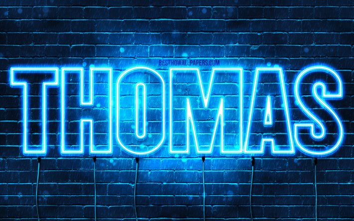 Download wallpapers Thomas, 4k, wallpapers with names ...