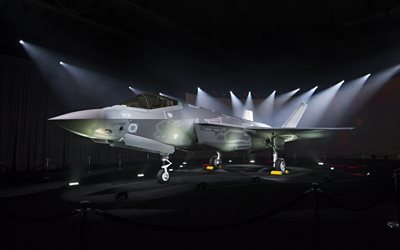 fighter-bomber, f-35, lockheed martin f-35, die us-air force, ausstellung