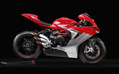 4k, MV Agusta F3 800, side view, 2019 bikes, new F3 800, superbikes, red motorcycle, MV Agusta
