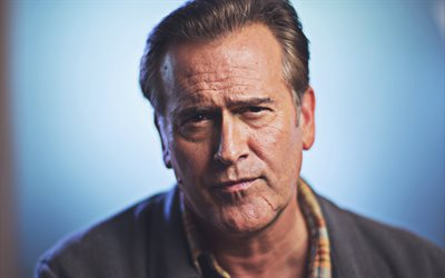 4k, Bruce Campbell, 2018, american actor, Hollywood, american celebrity, Bruce Campbell photoshoot