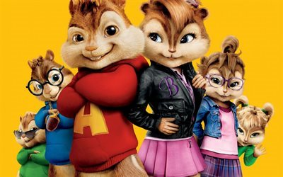 Alvin and the Chipmunks, 3D, chipmunks, all characters