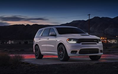Dodge Durango SRT, night, 2018 cars, parking, SUVs, Dodge