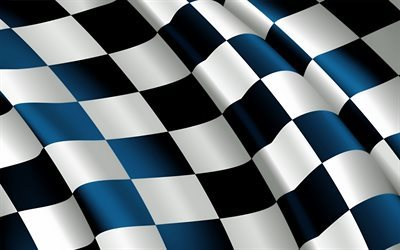 checkered flag, 4k, finish line flag, silk