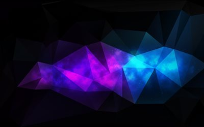 4k, geometric shapes, darkness, geometry, low poly art, 3d art, low poly shapes