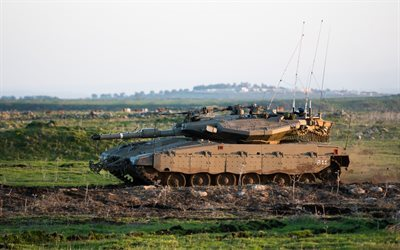 Merkava Mk4, Israeli tank, field, fighting vehicles, armored vehicles, ground forces, Israel