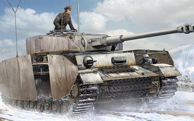 Medium tank, armored vehicles, la Wehrmacht, Panzer IV, PagKpfw IV Ausf J, Germany