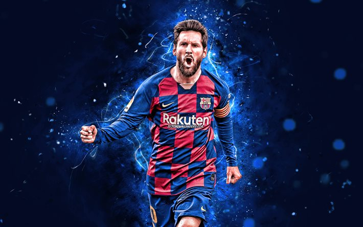 Download Wallpapers 4k Lionel Messi 2020 Barcelona Fc Argentinian Footballers Goal Fcb Football Stars La Liga Messi Leo Messi Laliga Spain Neon Lights Barca Soccer For Desktop Free Pictures For Desktop Free
