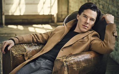 Benedict Cumberbatch, el actor estadounidense, de Hollywood, chicos