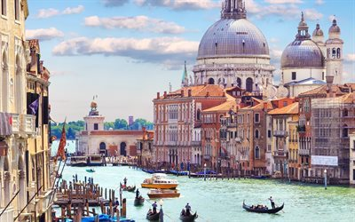 Venice, Summer, travel, Italy, Europe, panorama, canal