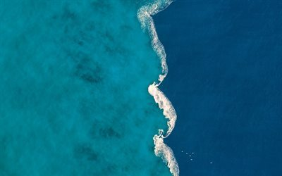 Mediterranean Sea, river Ter, Spain, Gola del Ter, mix of fresh and salt waters