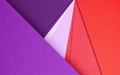 geometric shapes, material design, violet and pink, android, lines, lollipop, geometry, creative, strips, green backgrounds, abstract art