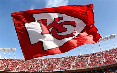 Drapeau des Chiefs de Kansas City, NFL, Arrowhead Stadium, Kansas City, Etats-Unis, Chiefs de Kansas City, football américain, Kansas City Chiefs Flag