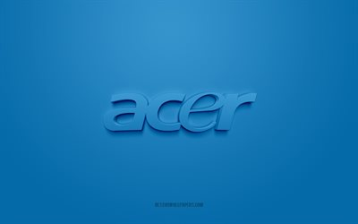 Acer logo, purple background, Acer 3d logo, 3d art, Acer, brands logo, purple 3d Acer logo