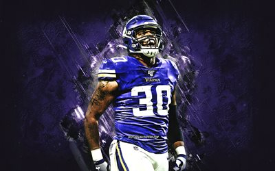 CJ Ham, Minnesota Vikings, NFL, Cortez Thaddeus Ham, American Football, Purple Stone Background, USA