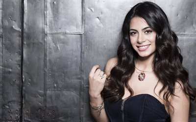 Emeraude Toubia, 4k, smile, american actress, beauty, Hollywood