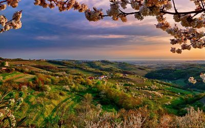 Italy, Collio, spring, sunset, Lombardy