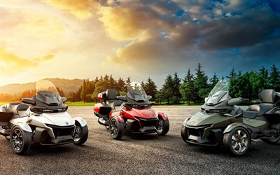 Can-Am Spyder RT Sea-to-Sky, 4k, 2021 bikes, tricycles, HDR, BRP