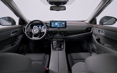 4k, Nissan X-Trail, interior, 2021 cars, crossovers, CN-spec, dashboard, Nissan X-Trail inside, 2021 Nissan X-Trail, japanese cars, Nissan