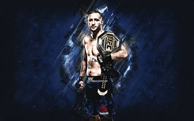 Justin Gaethje, MMA, UFC, American fighter, Justin Gaethje art, Ultimate Fighting Championship, stone gray background
