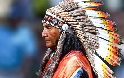 indian, feathers, old man, Peru