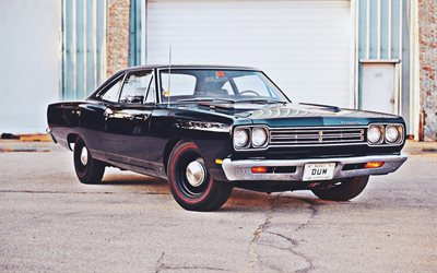 Plymouth Road Runner Coupe, 1969 cars, retro cars, RM21, muscle cars, 1969 Plymouth Road Runner, american cars, Plymouth