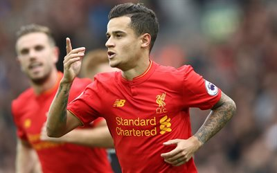 Philippe Coutinho, footballers, Premier League, MU, Manchester United, Phil Coutinho