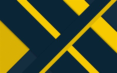4k, gray and yellow, material design, android, lollipop, lines, geometric shapes, creative, strips, geometry, colorful background
