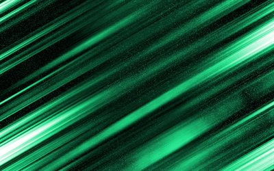 green abstract background, green lines background, creative backgrounds, green neon background